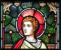 Enniscorthy St. Aidan's Cathedral East Aisle Second Window Evangelist John Detail 2009 09 28.jpg