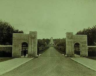 Aisne-Marne American Cemetery and Memorial - Image: Entrance gate at Aisne Marne American Cemetery, Belleau, France, 1923 (21437641814)