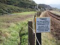 Environmental warning to rail workers - geograph.org.uk - 1482039.jpg