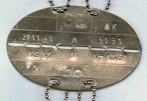 "Military identity disk (""dog tag"") of the Germ..."