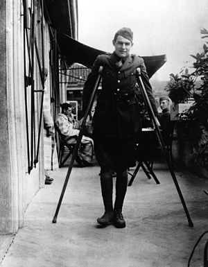 Big Two-Hearted River - Ernest Hemingway in Milan,  1918. The 19-year-old author is recovering from WWI shrapnel wounds.