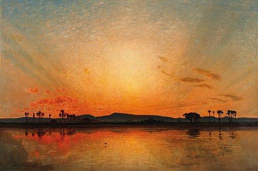 Ernst Koerner Nachglühen am ägyptischen Abendhimmel