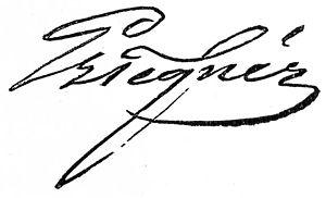 Esaias Tegnér - Image: Esaias tegnér signature