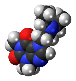 Etamiphylline - Image: Etamiphylline 3D spacefill