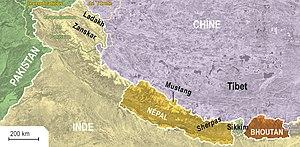 Michel Peissel - Himalayan territories crossed by Michel Peissel