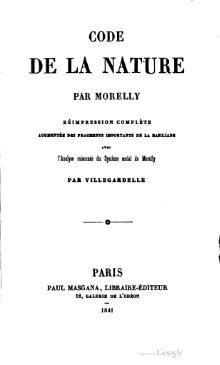 Edición de 1841 delCódigo de la Naturaleza