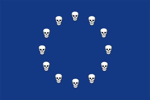 European migrant crisis flag