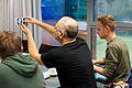 Europeana Sounds Edit-a-Thon 1- Participants Editing Wikipedia.jpg
