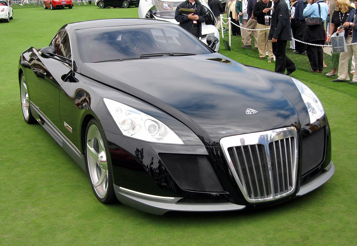 Mercedes-benz maybach exelero expensive luxury car in black