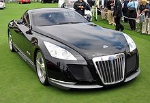 maybach exelero at the concours delegance