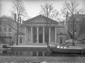 Royal Academy of Art, The Hague - Entrance area of the  Royal Academy of Art, Prinsessegracht 3-4, 1930.