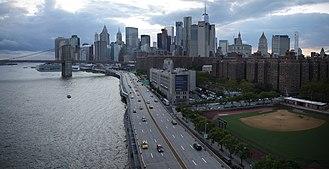 FDR Drive - Approaching Brooklyn Bridge
