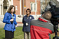 FEMA - 43421 - Disaster Recovery Center (DRC) manager interviewed on DRC opening day.jpg