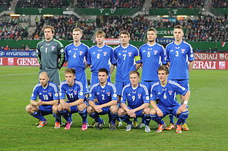 Faroe Islands national football team - Faroe Islands national football team in March 2013