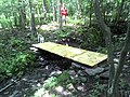 FLT M28 5.2 mi - Bridge, 12' long, 42 wide, 4x4 stringers, 1x6 deck boards, stone sills - panoramio.jpg