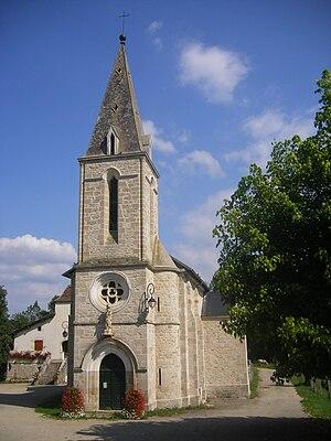 Boussac, Lot - The church in Boussac