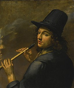FRENCH SCHOOL, 17TH CENTURY YOUNG MAN PLAYING A RECORDER