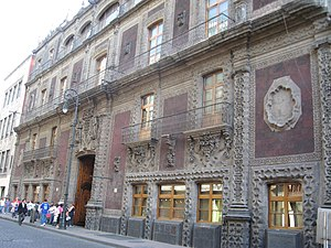 Palace of Iturbide - Facade of Palace of Iturbide