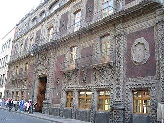 Palace of Iturbide - Facade of Palace of Iturbide