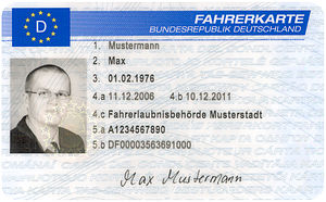Tachograph - German Driver Card, front side (2007)