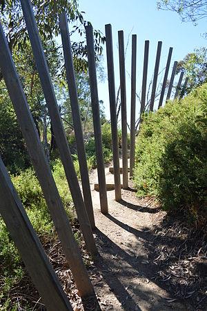 Herring Island (Victoria) - Image: Falling Fence (John Gollings with Samantha Slicer 2001)