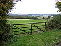 Farm gate and Greensand landscape above Clophill, Beds - geograph.org.uk - 64921.jpg