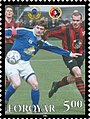 Faroe stamp 491 FIFA 100 years - KI and HB.jpg