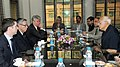 Farooq Abdullah with the Minister for Natural Resources, Canada, Mr. Joe Oliver at the bilateral meeting on the sidelines of International Seminar on Energy Access, in New Delhi on October 08, 2012.jpg