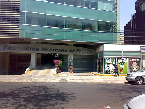 Former headquarters in Mexico City Federacion Mexicana de Futbol.jpg