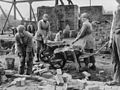 Female bricklayers at work on a building site in Lancashire during the First World War. Q28190.jpg