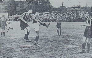 1938–39 Galatasaray S.K. season - A view from the match between Galatasaray and Fenerbahçe on 21 May 1939.