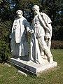 Ferenc Deák and Lázár Mészáros by János Horvay, Szigeterdő, 2018 Dombóvár.jpg