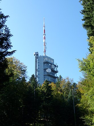 Chardonne - Television transmission tower on Mont Pèlerin