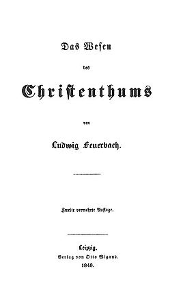 ludwig feuerbach human projection thesis