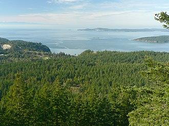 Fidalgo Island - The forested western slopes of Fidalgo Island overlook the Strait of Juan de Fuca.