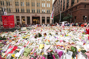 2014 in Australia - Bouquets in Martin Place following the 2014 Sydney hostage crisis