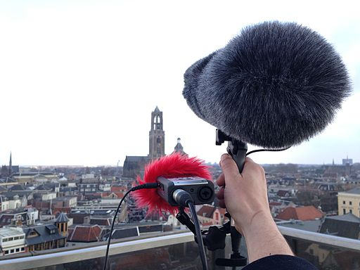Field recording from the top of Hoogh Catherijne, Utrecht