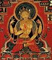 Figure detail, Prajnaparamita. Wall painting, Tholing monastery, Western Tibet, 2nd half of the 15th century (cropped).jpg