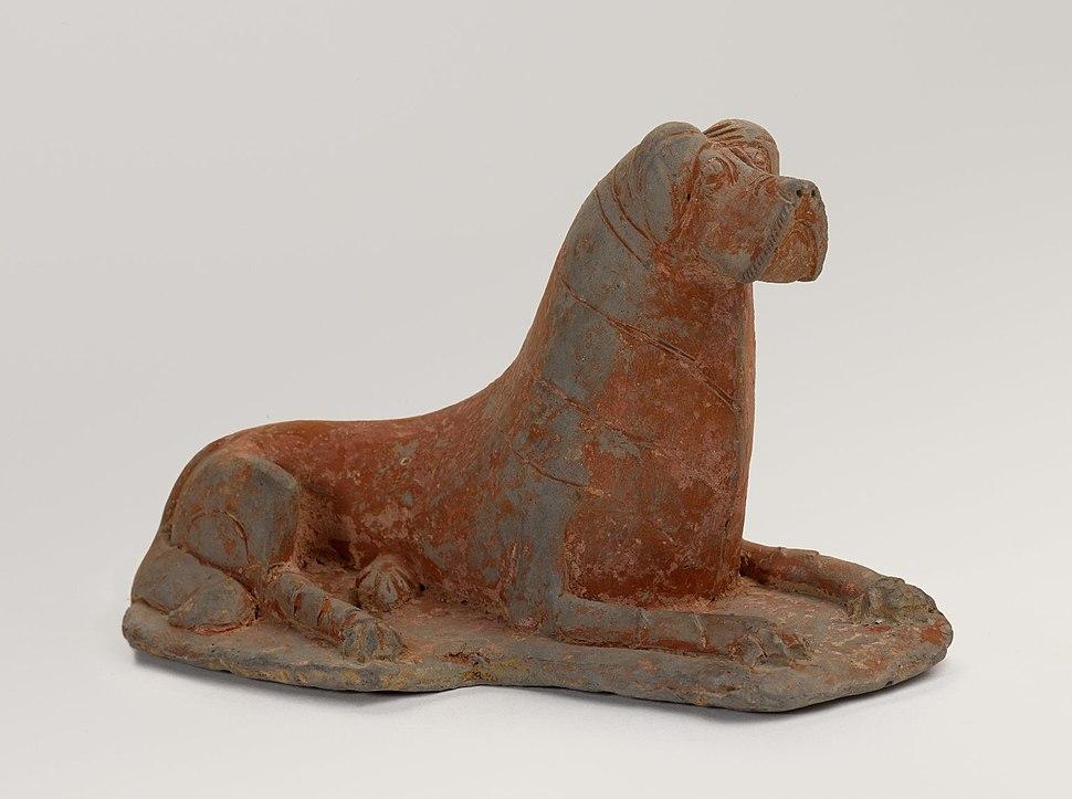 Figure of a Recumbent Dog, China
