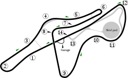 Fiorano; Ferrari's private test track.svg