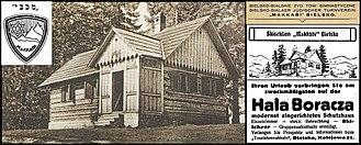 Maccabi World Union - First Jewish tourist mountain hostel Makkabi Bielsko 1929 on Hala Boracza