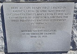 First Landing State Park - First Landing cross placard