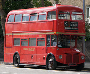 First London Routemaster bus RM1562 (562 CLT), heritage route 9, Kensington High Street, 27 August 2011 (1).jpg
