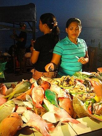 Boholano people - A Boholana fish vendor.
