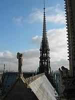 Flèche de la cathédrale de Notre-Dame de Paris, depuis les tours.jpg