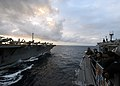 Flickr - Official U.S. Navy Imagery - USS Vicksburg and USS Enterprise conduct an underway replenishment..jpg