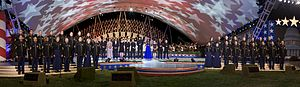 United States Army Field Band - The chorus of the Army Field Band performing alongside celebrities at the 2009 National Memorial Day Concert
