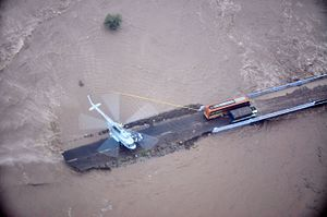 2015 Gujarat cyclone - People being rescued by Indian Air Force helicopter