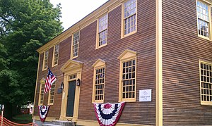 American Independence Museum - The restored front of the Folsom Tavern, which faces downtown Water Street in Exeter