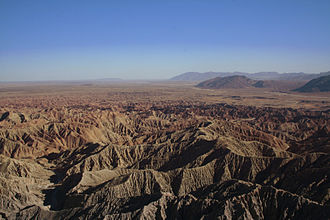 Anza-Borrego Desert State Park - Desert view from Font's Point